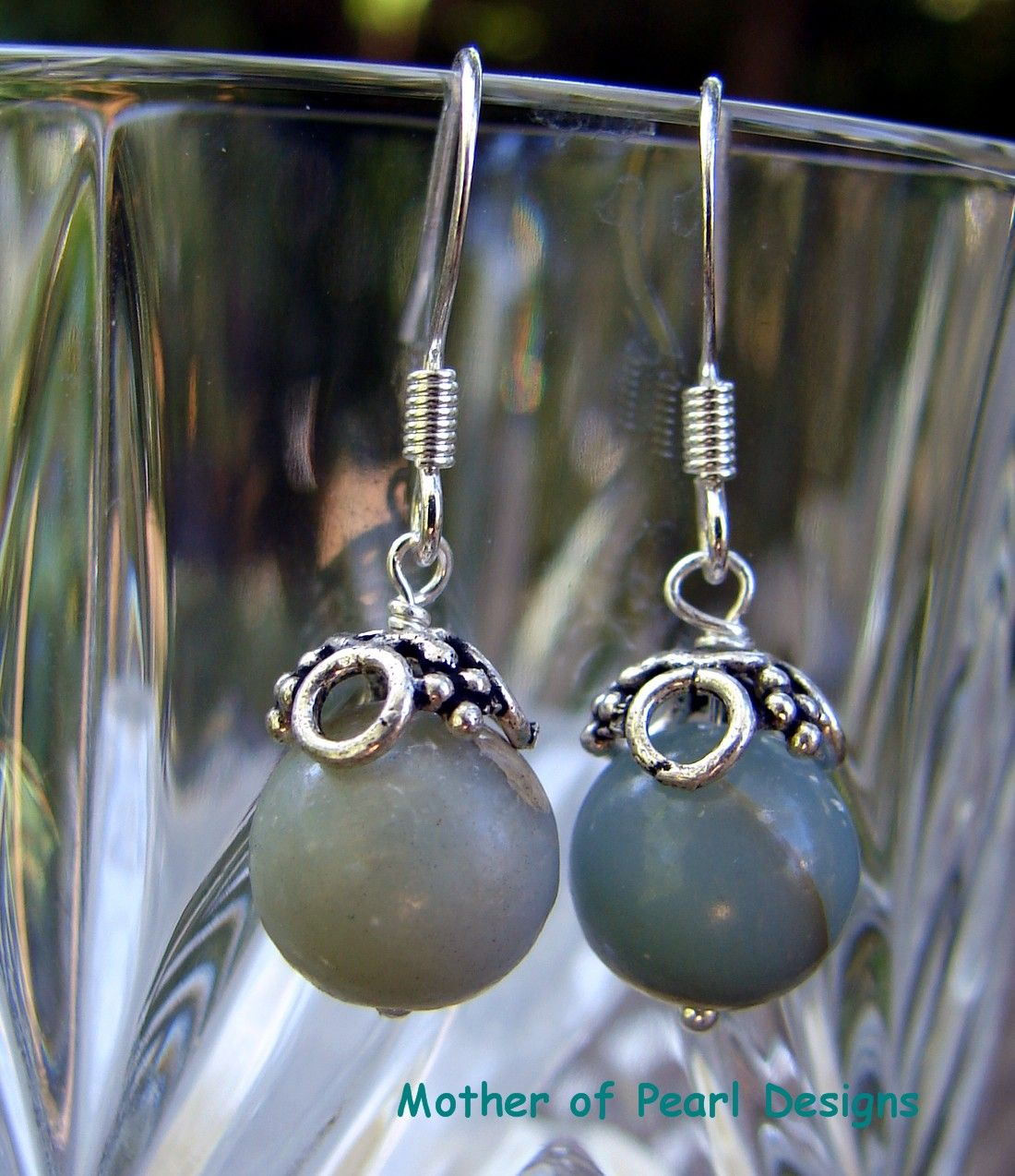 Aqua Terra Jasper Beads accented with sterling silver from motherofpearldesigns.com