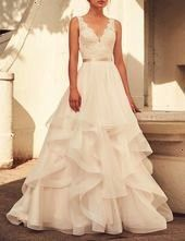 Photo of #dressvneck #dresswhite #fashion #wedding #bridal #noble