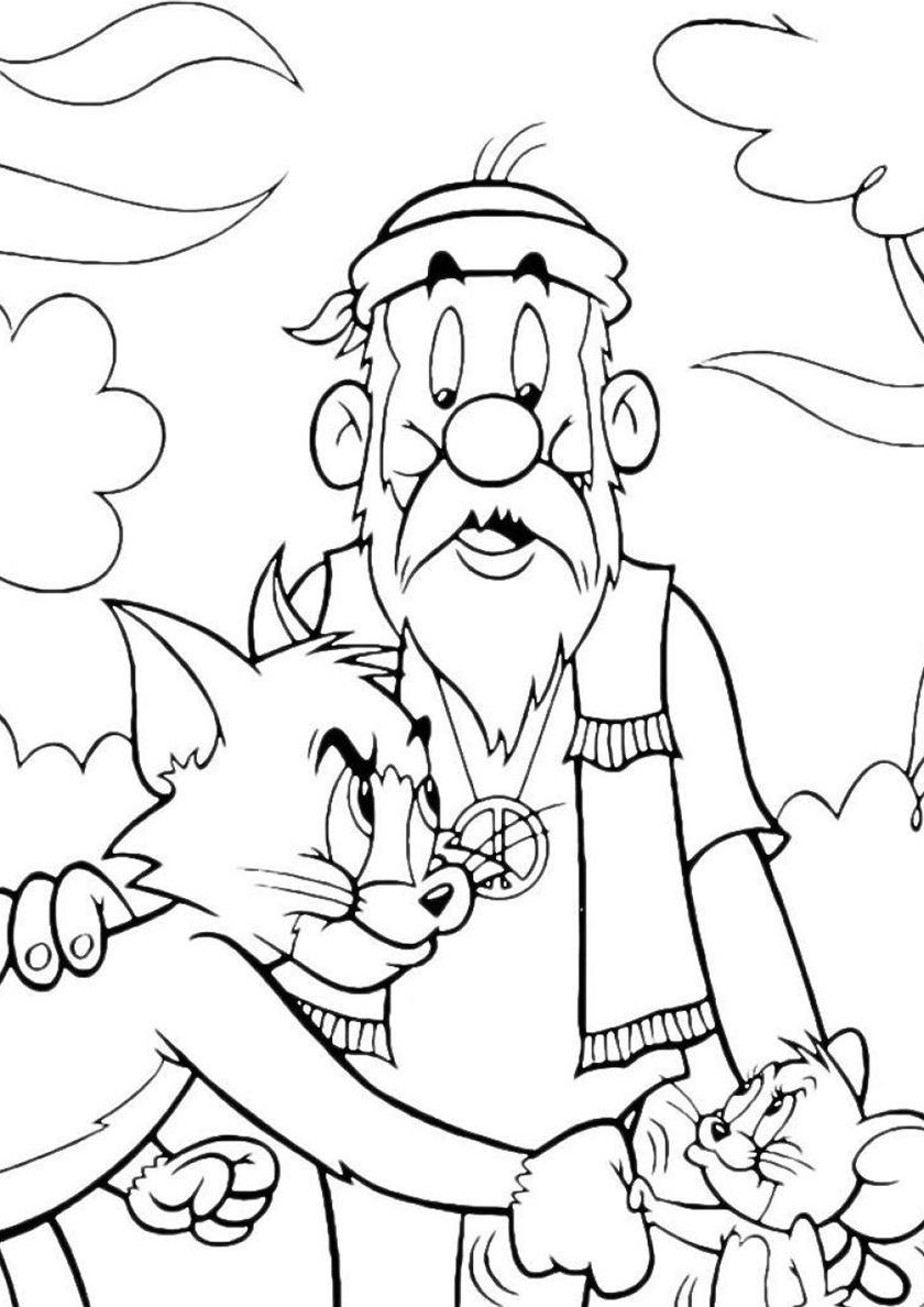 Handshake Jerry And Tom Cartoon Coloring Pages Coloring Pages