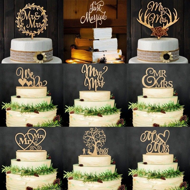 Mr /& Mrs Bride Groom Cake Topper Anniversary Wedding Party Favours Decoration
