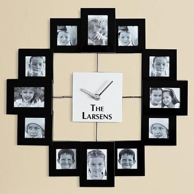 Lovely Personalized Photo Frame Wall Clock. Perfect Gift For My Grandma And Her 12  Grandkids Awesome Ideas