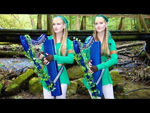 LOST WOODS (Legend of ZELDA) Harp Twins - Camille and Kennerly - YouTube
