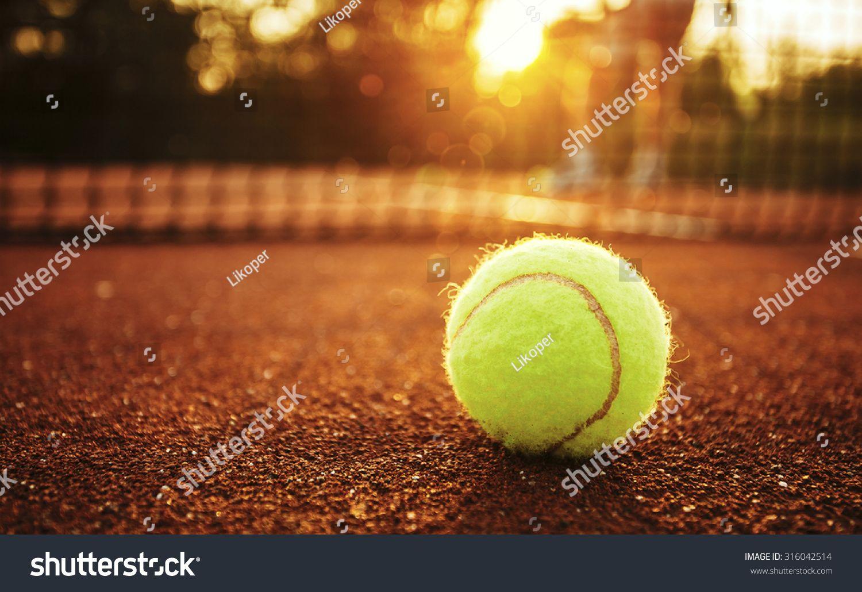 Close Up Of Tennis Ball On Clay Court U002ftennis Ball Ad Affiliate Ball Tennis Close U002ftennis Tennis Massage Rackets