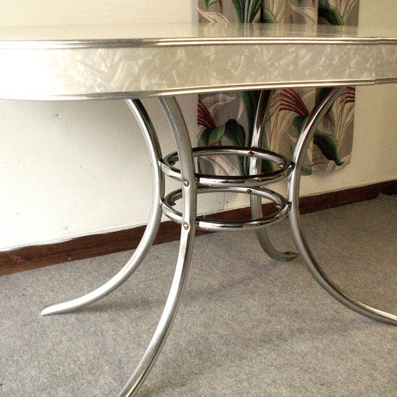 Vintage Chrome Kitchen Table