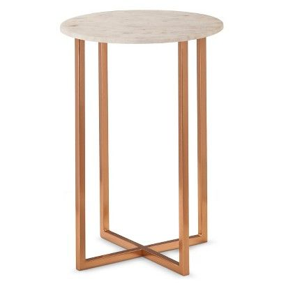 Threshold™ Copper Accent Table With Marble Top $79.99 LOVE THESE. Two For  End Tables