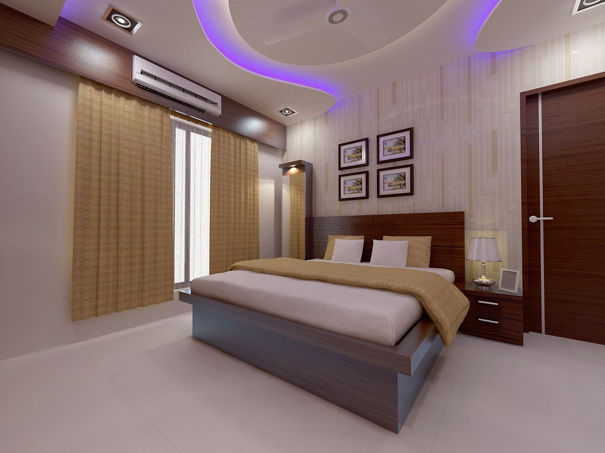 Wooden Bed With Thick Gadi Work And Wooden Back Rest Side Unit Placed With Drawers And Laminated Su Modern Bedroom Colors Modern Bedroom Design Modern Bedroom