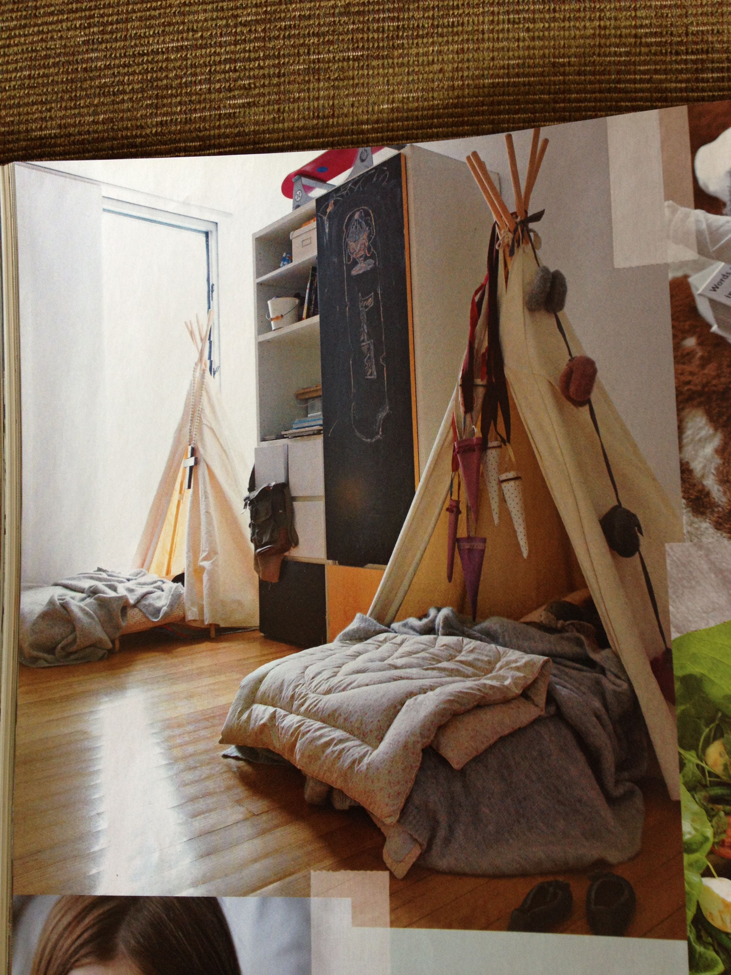 Tents Form A Cute Canopy Over The Kids Beds
