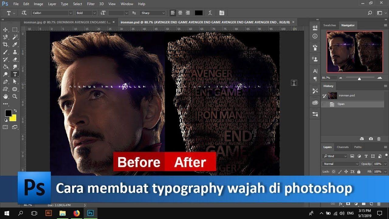 Mudahnya Membuat Typography Wajah Di Photoshop Tutorial89 Tutorial Photoshop Pada Tutorial Kali Ini Kita Akan Belajar Membuat Typogra Photoshop Wajah Video