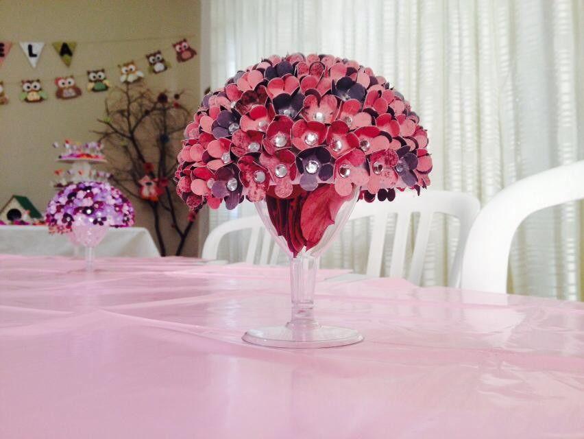 Arranjo De Mesa Com Flores De Papel Melissa Gentil Feitosa