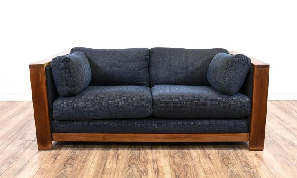 Wood Frame Couch With Removable Cushions