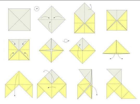 Pajarita Origami Origami Manualidades Diy Quilts