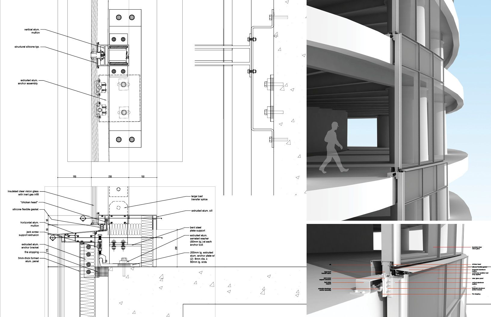 Curtain Wall Detail Bing Detail Drawing Pinterest Architecture Details