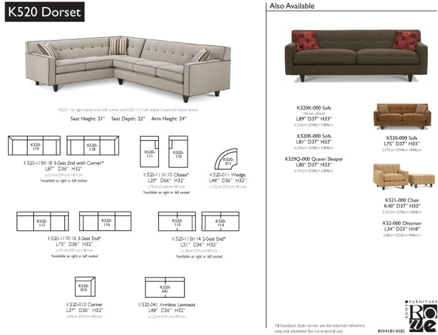 Rowe Dorset Furniture Sectional Layout