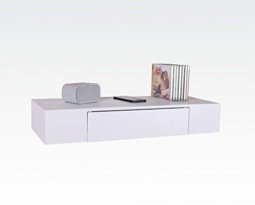 Uniifurn Decorative Wall Shelf With Drawer White Uniifurn Http Www Amazon Com Dp B00sn306q4 Ref Cm Sw R Wall Shelf With Drawer Wall Shelf Decor Wall Shelves