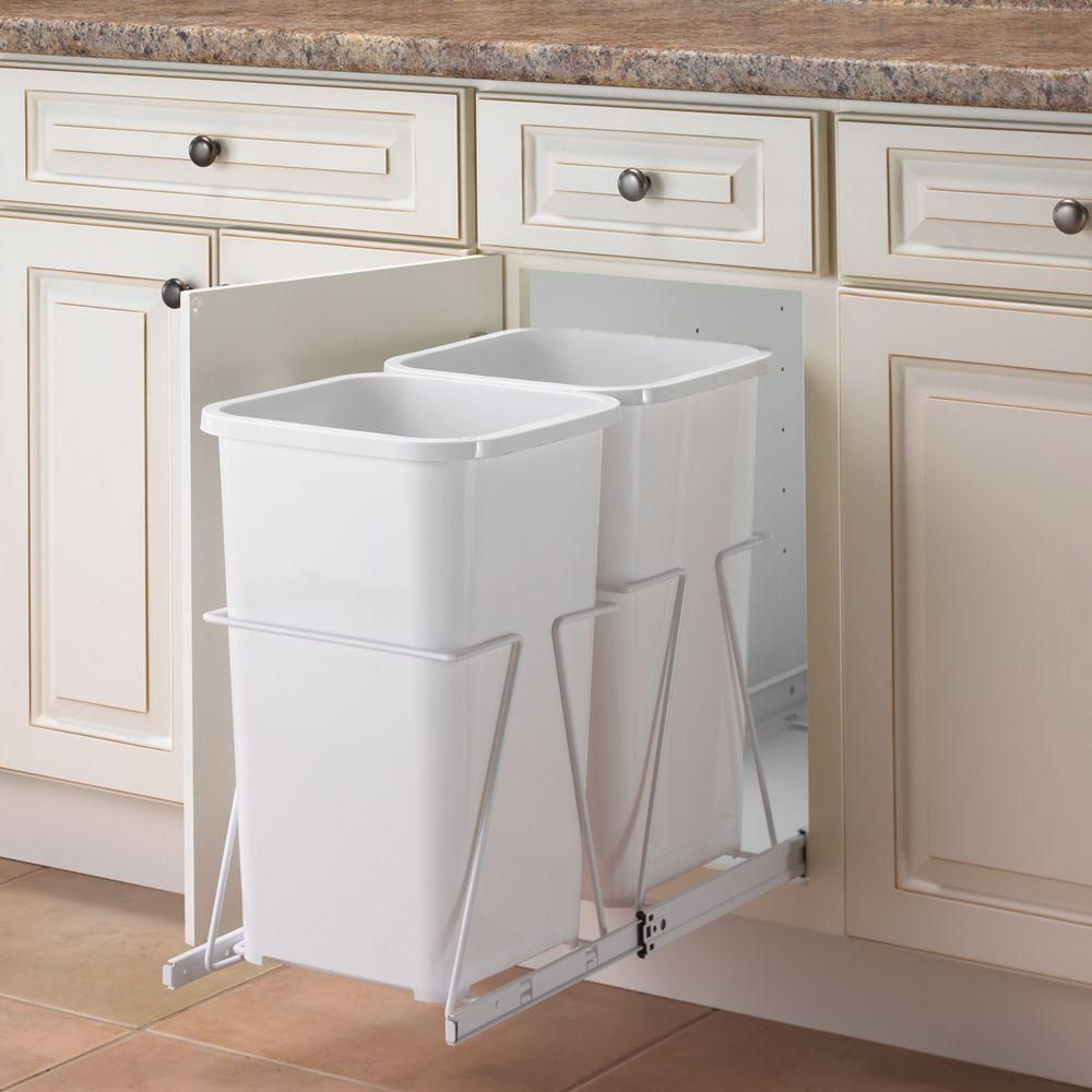 Unique Undersink Trash Can Ideas Tags Undersink Trash Can Cabinet Doors Undersink Trash Can Cleani Pull Out Trash Cans Kitchen Trash Cans Trash Can Cabinet