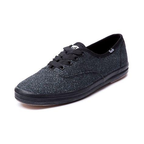 shop for womens keds chion sparkle casual shoe black