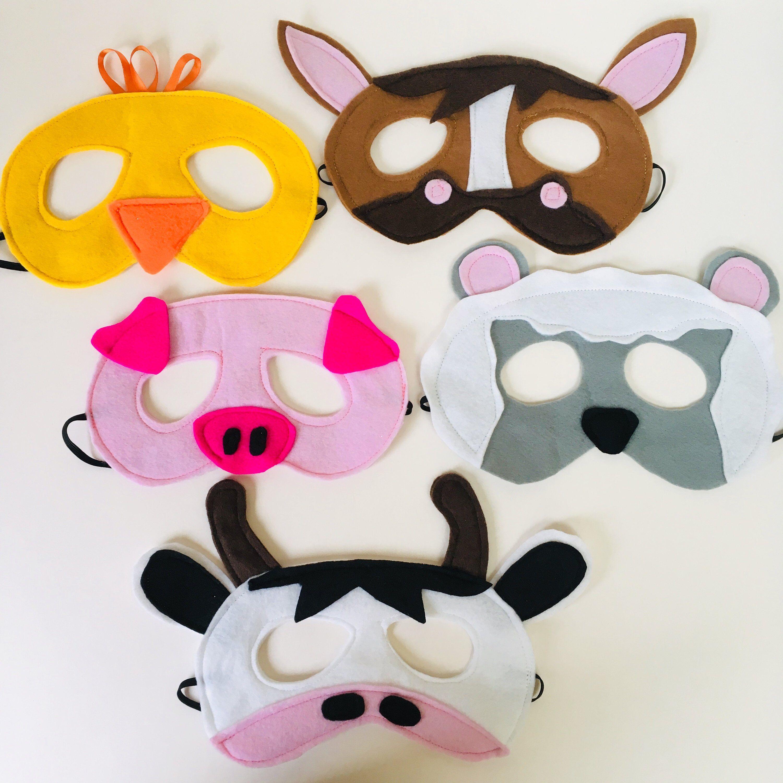 Pig Foam Eye Face Mask Childrens Birthday Party Animal Fancy Dress Farm Yard
