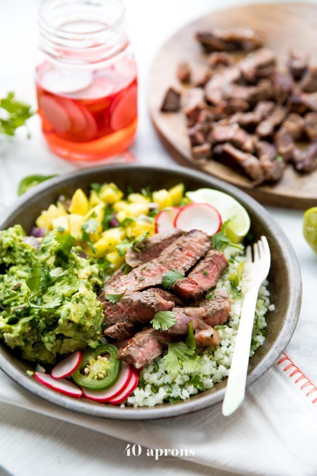 Steak Taco Bowls (Street Taco Inspired, Whole30, Paleo) images