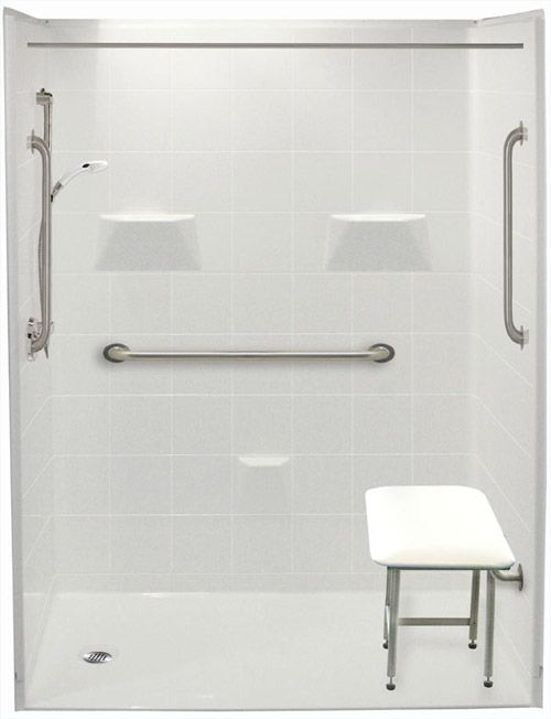 Freedom Accessible Shower Left Drain 5 Piece 60 X 33⅜