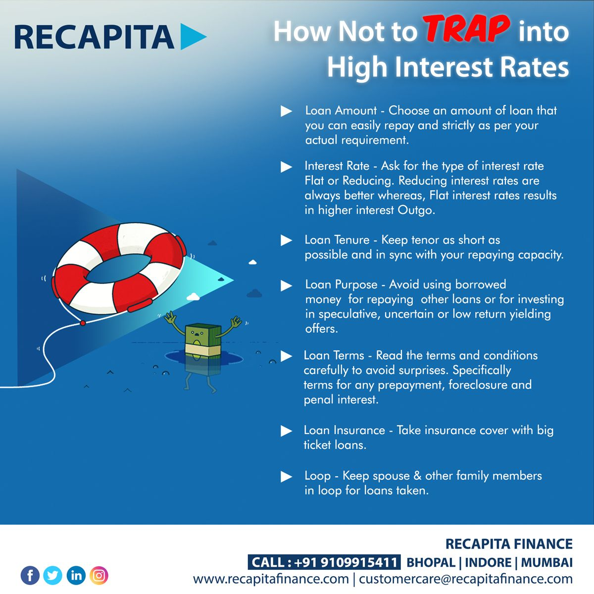 How Not To Trap Into High Interest Rates Specially During Lockdown For More Details Visit Https Www Recapitaf In 2020 Personal Loans Business Loans Capital Finance