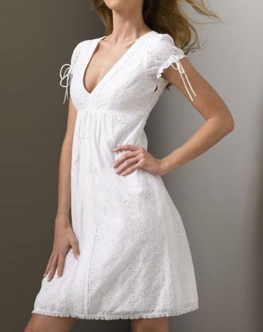 White Cotton Eyelet Dress - White cotton eyelet dresses can make ...