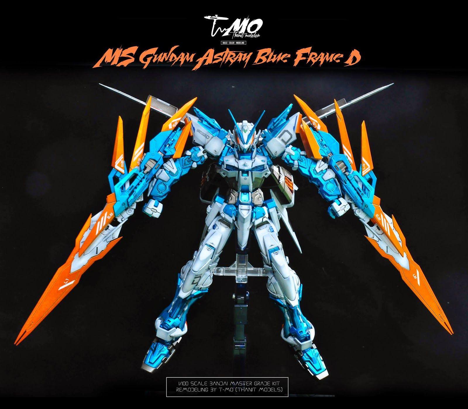 GUNDAM GUY: GUNDAM GUY: READERS FEATURE GUNPLA BUILD - MG 1/100 Gundam Astray Blue Frame D by T-MO