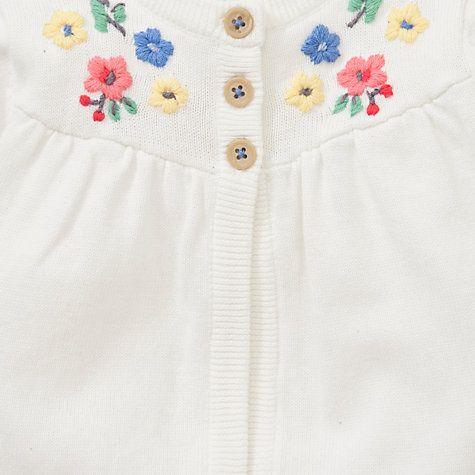 474f6af19 Buy John Lewis Baby Vintage Floral Cardigan, Cream Online at johnlewis.com