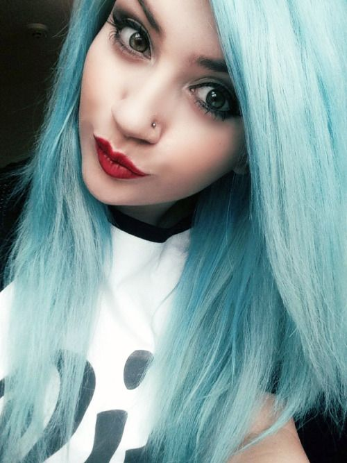 Crazy Color Bubblegum Blue Turquoise Hair Hair Color Blue