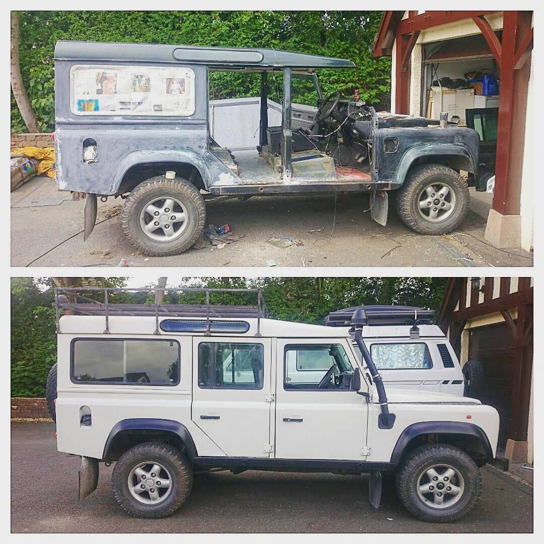 Follow The Hound On Instagram Before And After Landrover Defender Restoration Land Rover Land Rover Defender Defender 110