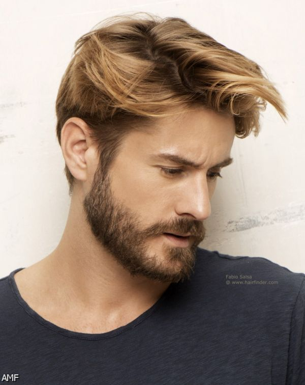 Men Hairstyles 2016 Blonde Highlights Google Search Beard
