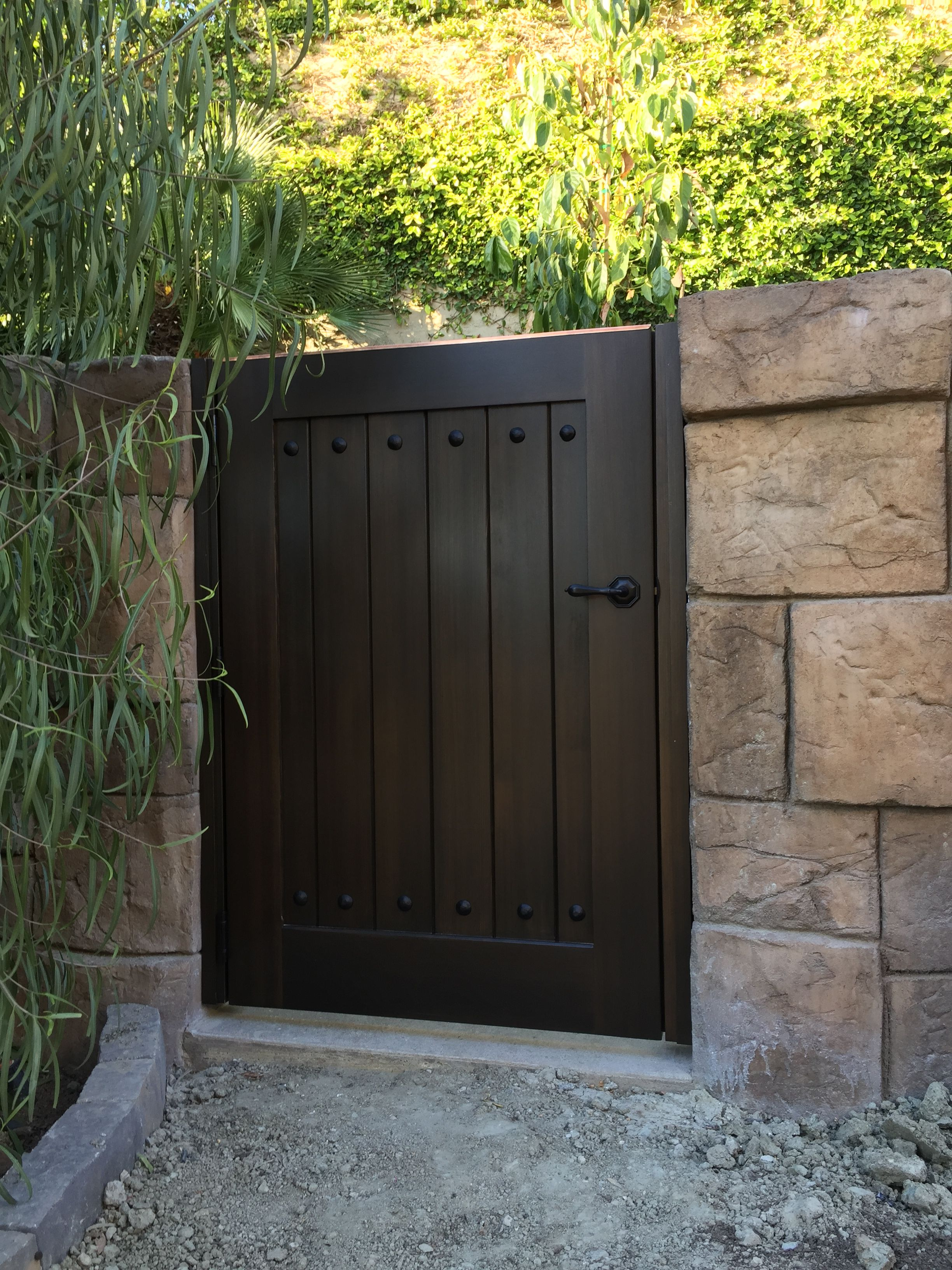 Custom Wood Gate by Garden Passages - Smaller, Simple Side ...