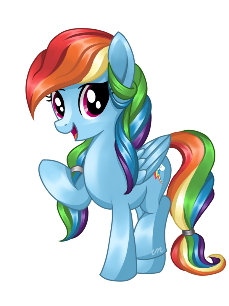 rainbow dash mane