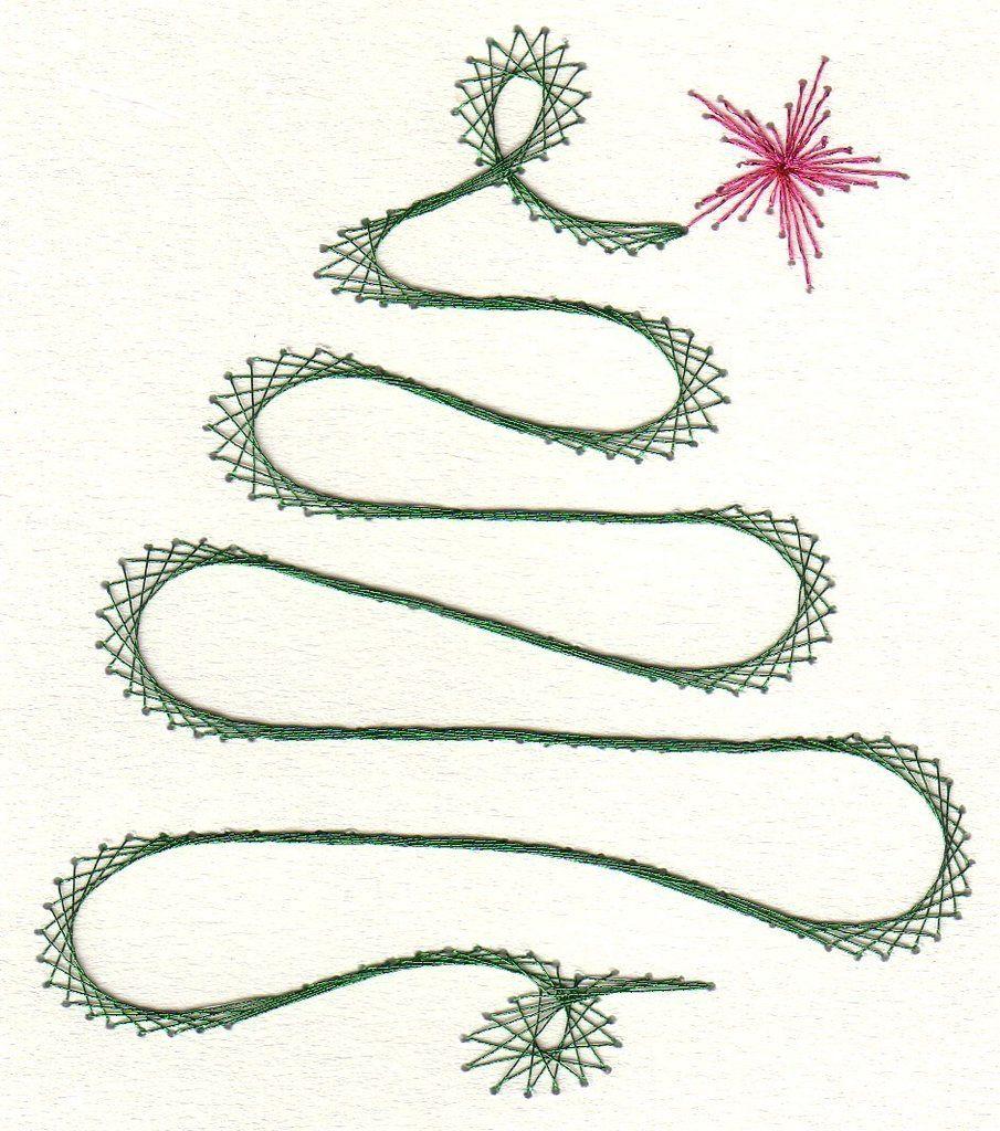 Baum vysivani pinterest paper embroidery string art and christmas embroidery - String art vorlagen kostenlos ...