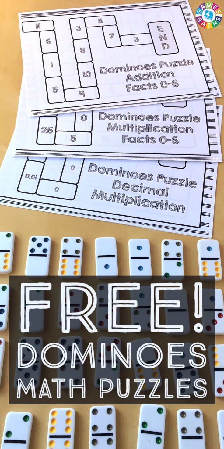 Use Basic Facts to Solve These Dominoes Math Puzzles!   Hechos ...