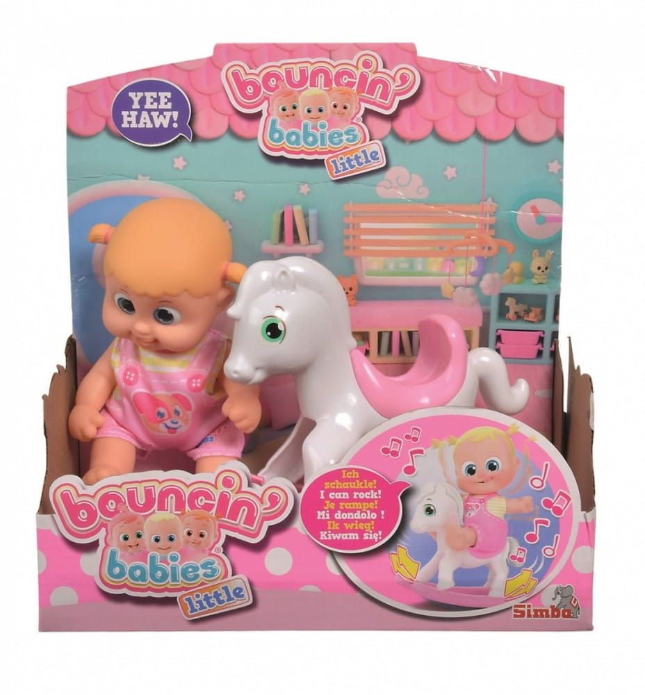 Simba Lalka Bouncin Babies Little Bonny Z Konikiem Bujanym Simba Baby Bonny