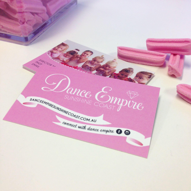 Dance Empire business card by What The Fox Creative. Sunshine Coast ...