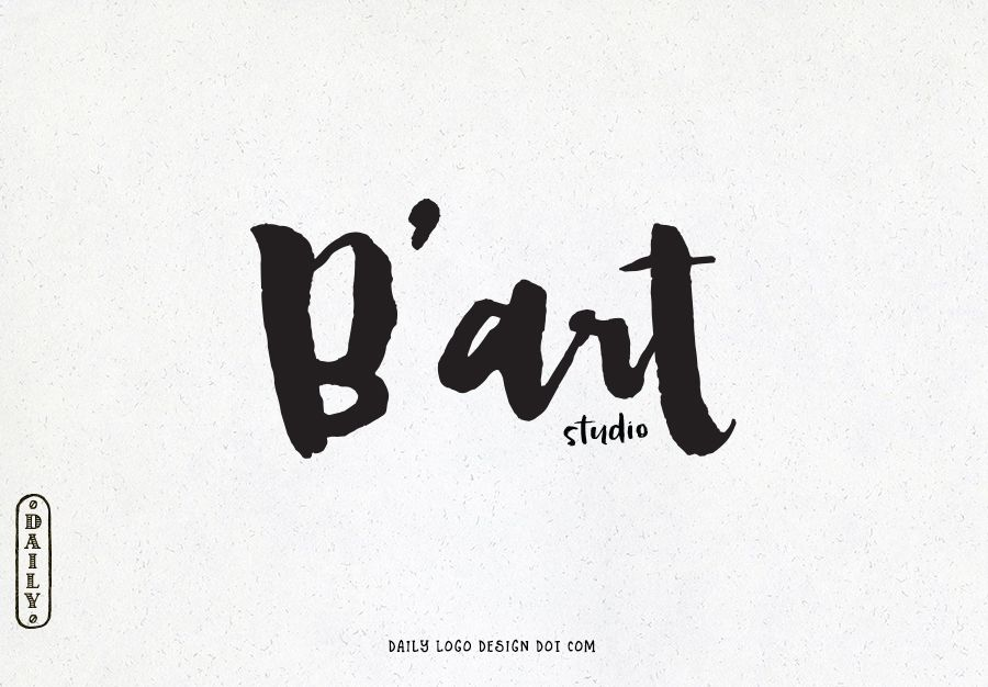 Watercolor Brush Font Logo Design By Daily Logo Design The Paris