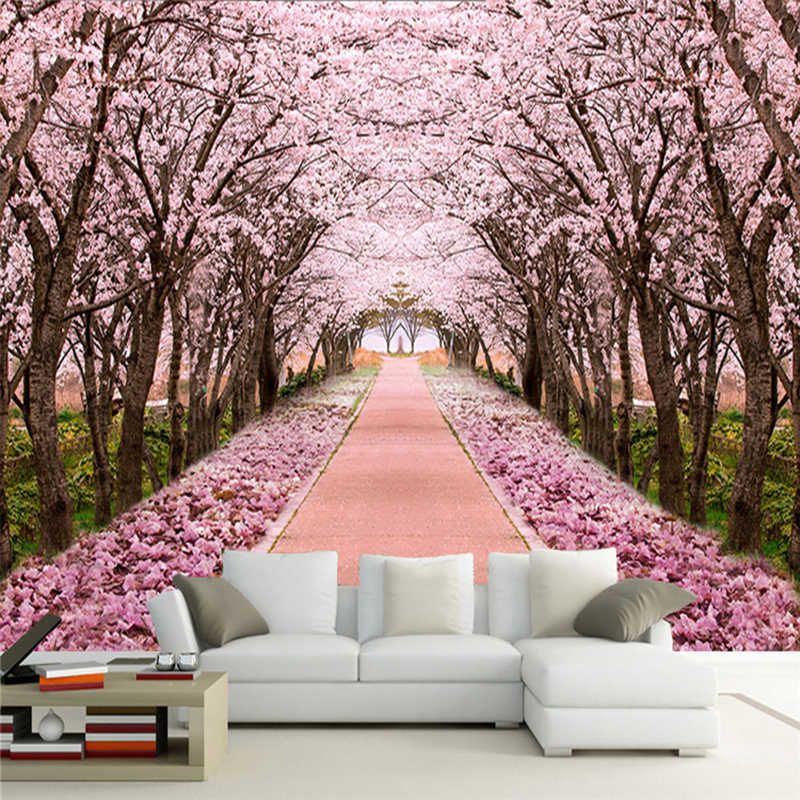25 Collection Painting A Tree Mural Home Decor And Garden Ideas Cherry Blossom Wall Art Cherry Blossom Painting Tree Wall Painting