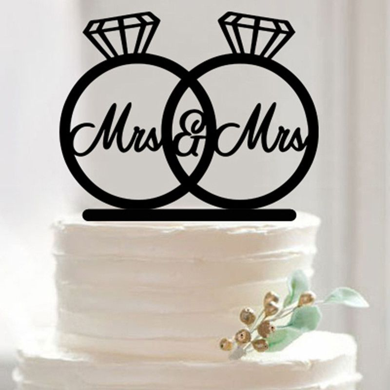 Acrylic Mr/&Mrs Bride And Groom Love Cake Topper Party Favors Wedding Decoration