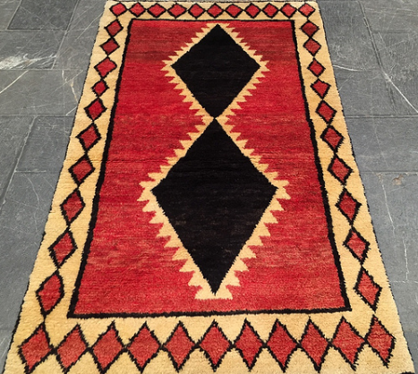 MAJID COLLECTION Rug# 5762, Gabbeh, 192x112 cm  RRP: $1900  Hand knotted Persian rugs Made in Iran, India & Afghanistan  Located in Canterberry VIC