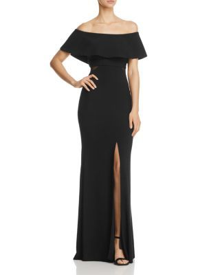 ca6b7bc0cddb2 AVERY G OFF-THE-SHOULDER FLOUNCE GOWN. #averyg #cloth # | Avery G ...