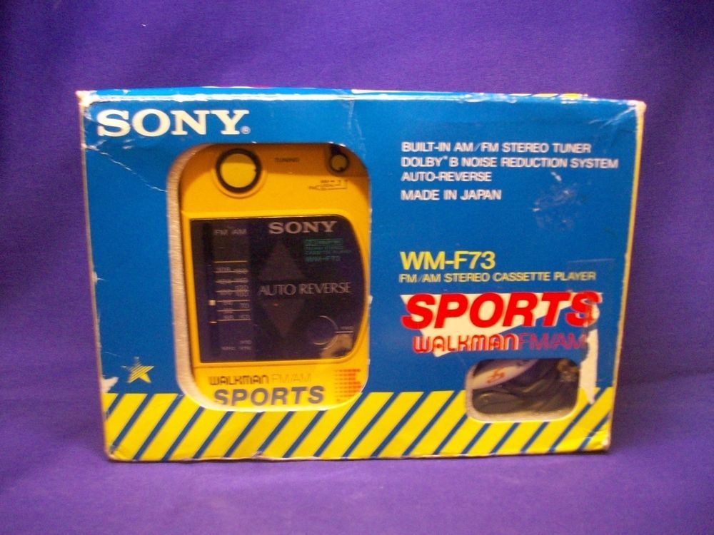 Vintage Sony WM-F73 Sports AM/FM Radio Tape Walkman Cassette