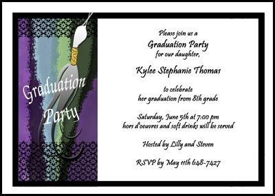 Tassel school graduation party invitations for middle school 8th tassel school graduation party invitations for middle school 8th grade and junior high for inviting your guests filmwisefo