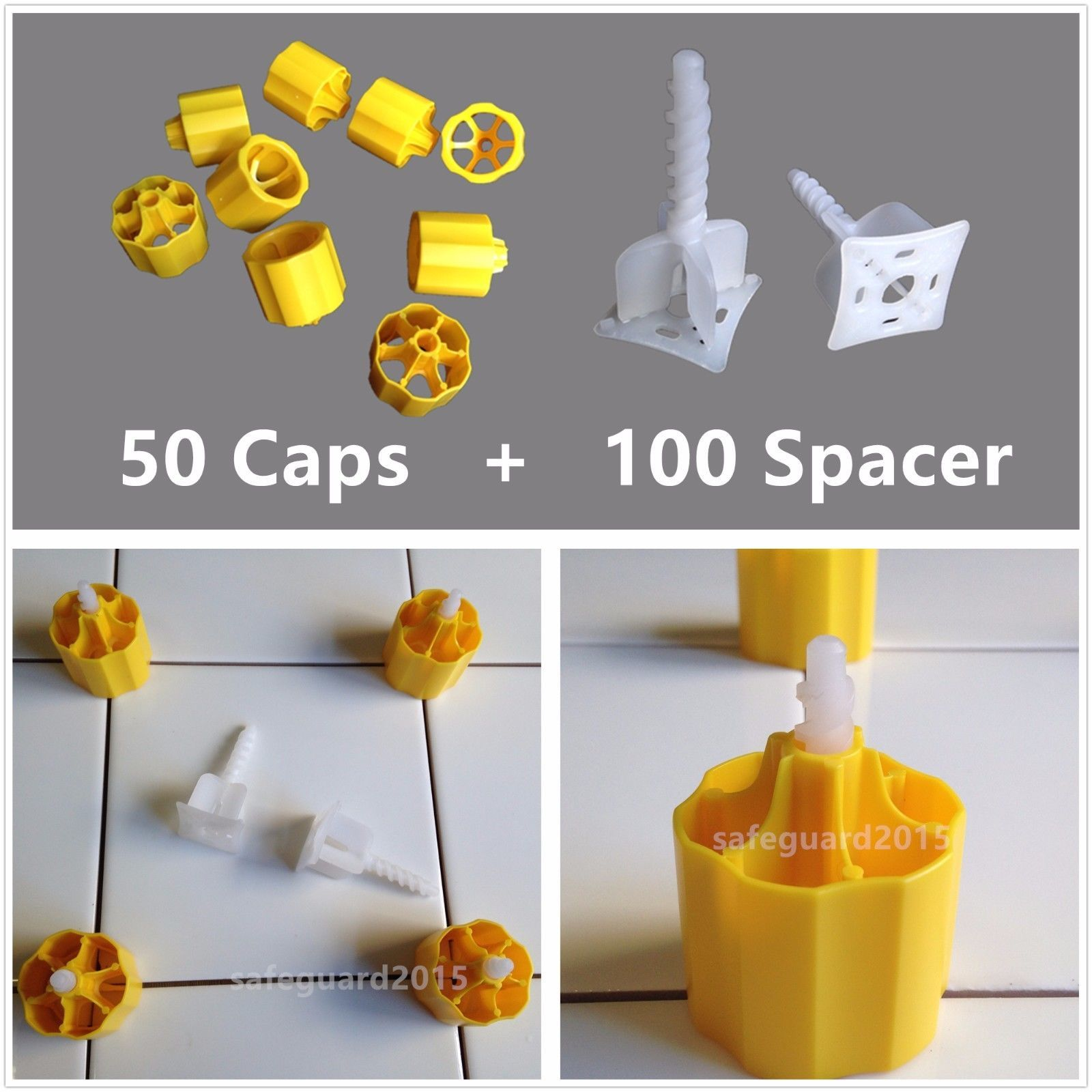 Details About Tile Leveling System 50 Caps 100 Cross Spacers Plastic Flooring Tool Kits Tile Leveling System Flooring Tools Flooring