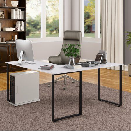 Merax 59 Inch L Shaped Desk With Metal