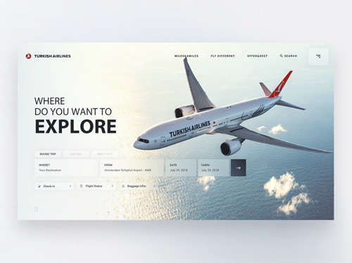 Turkish Airlines Landing Page Mobile Web Design Web Layout Design Website Design Layout