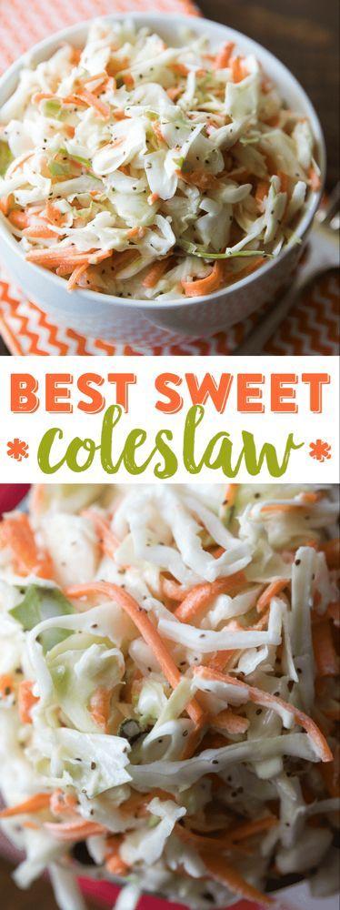 Best Sweet Coleslaw Recipe - Restaurant Style Slaw -