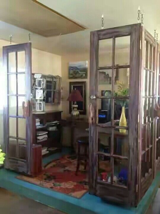 Made with old restored doors. #DIY & New Project. My new home office. Made with old restored doors. #DIY ...