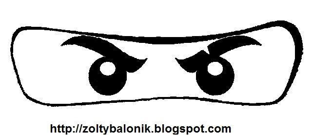Ausmalbilder Ninjago Gesicht: Ninjago Image To Print On Yellow Paper