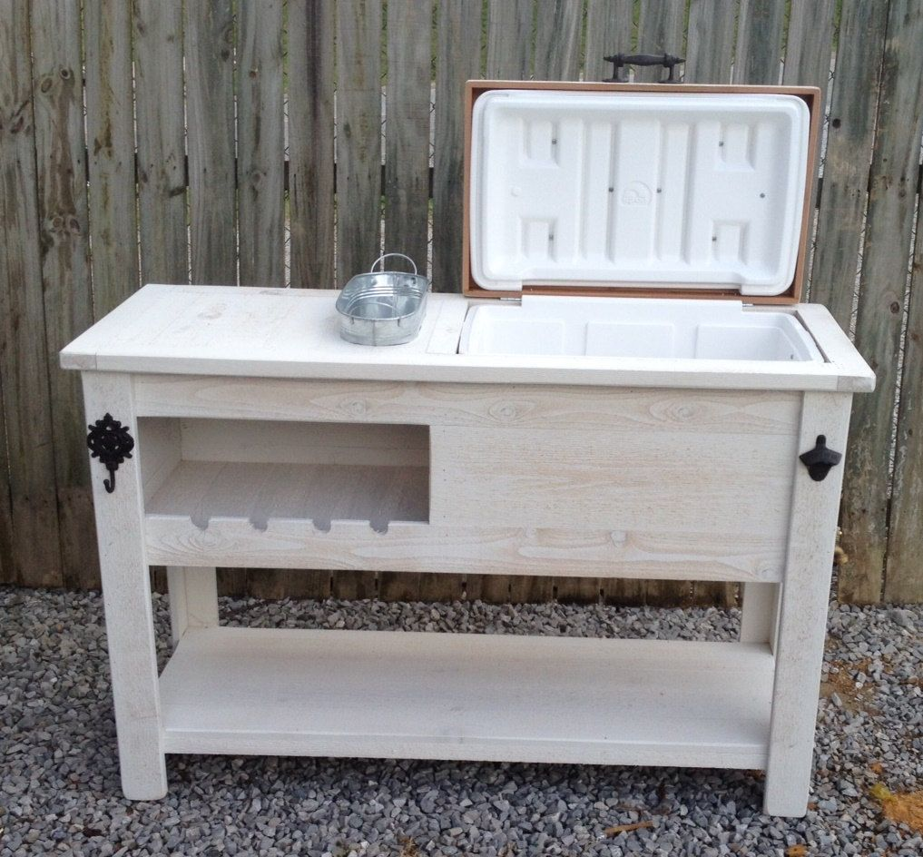 Learn how to build a patio cooler ice chest with diy pete Picnic table with cooler plans